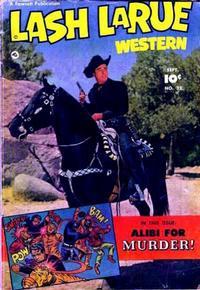 Cover Thumbnail for Lash LaRue Western (Fawcett, 1949 series) #32