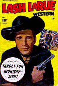 Cover Thumbnail for Lash LaRue Western (Fawcett, 1949 series) #33