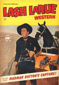 Cover Thumbnail for Lash LaRue Western (Fawcett, 1949 series) #35