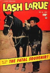 Cover Thumbnail for Lash LaRue Western (Fawcett, 1949 series) #36