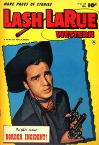 Cover Thumbnail for Lash LaRue Western (Fawcett, 1949 series) #37
