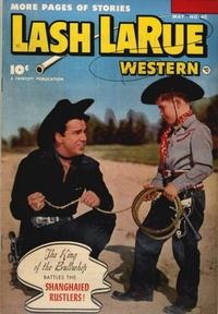 Cover Thumbnail for Lash LaRue Western (Fawcett, 1949 series) #40