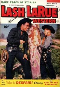 Cover Thumbnail for Lash LaRue Western (Fawcett, 1949 series) #42
