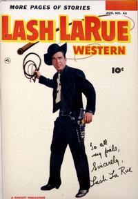 Cover Thumbnail for Lash LaRue Western (Fawcett, 1949 series) #43