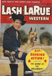 Cover Thumbnail for Lash LaRue Western (Fawcett, 1949 series) #44