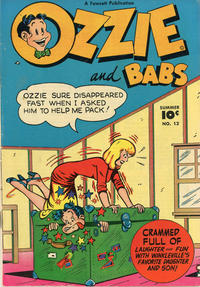 Cover for Ozzie and Babs (Fawcett, 1947 series) #12