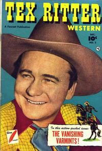 Cover Thumbnail for Tex Ritter Western (Fawcett, 1950 series) #2