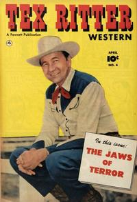 Cover Thumbnail for Tex Ritter Western (Fawcett, 1950 series) #4