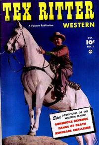 Cover Thumbnail for Tex Ritter Western (Fawcett, 1950 series) #7
