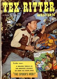Cover Thumbnail for Tex Ritter Western (Fawcett, 1950 series) #9