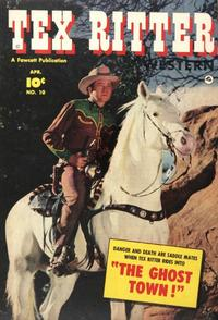 Cover Thumbnail for Tex Ritter Western (Fawcett, 1950 series) #10