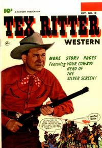Cover Thumbnail for Tex Ritter Western (Fawcett, 1950 series) #19