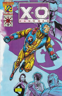 Cover Thumbnail for Wizard Presents: X-O Manowar (Valiant; Wizard, 1994 series) #1/2