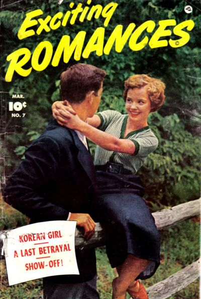 Cover for Exciting Romances (Fawcett, 1949 series) #7