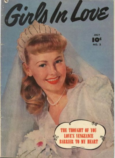 Cover for Girls in Love (Fawcett, 1950 series) #2