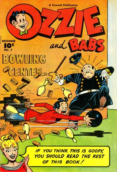 Cover for Ozzie and Babs (Fawcett, 1947 series) #7
