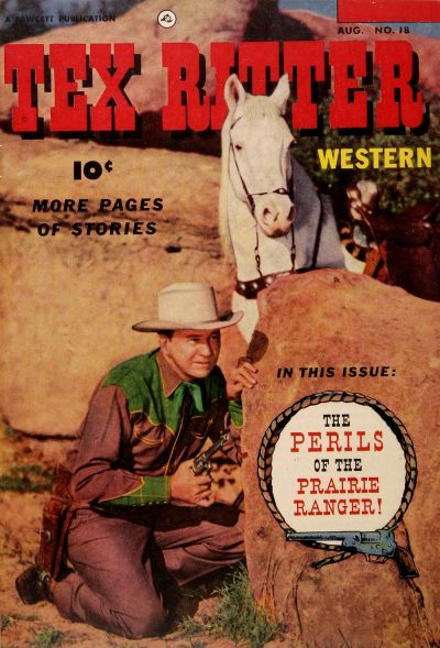 Cover for Tex Ritter Western (Fawcett, 1950 series) #18