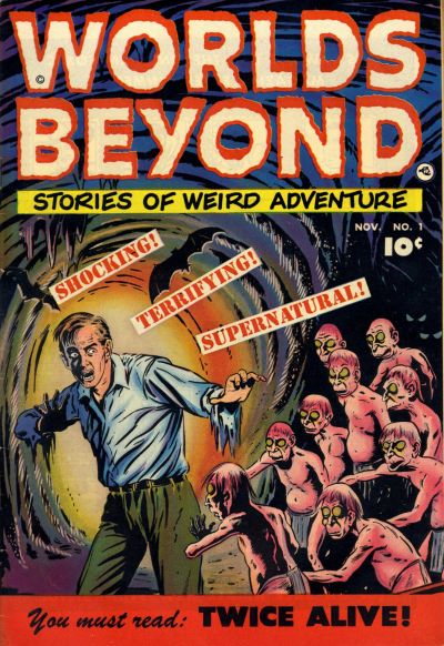 Cover for Worlds Beyond (Fawcett, 1951 series) #1