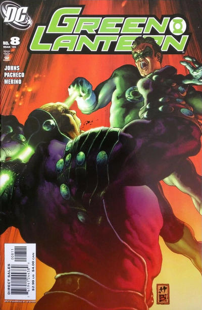 Cover for Green Lantern (DC, 2005 series) #8 [Direct Sales]