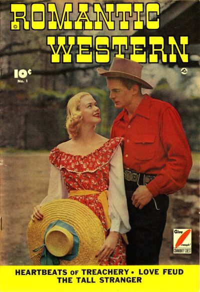 Cover for Romantic Western (Fawcett, 1949 series) #1