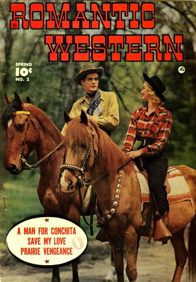 Cover for Romantic Western (Fawcett, 1949 series) #2