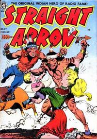 Cover Thumbnail for Straight Arrow (Magazine Enterprises, 1950 series) #22