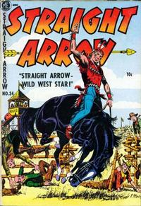 Cover for Straight Arrow (Magazine Enterprises, 1950 series) #34