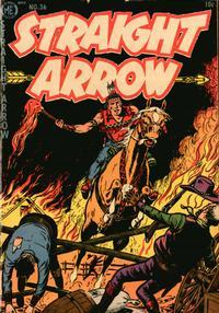 Cover Thumbnail for Straight Arrow (Magazine Enterprises, 1950 series) #36