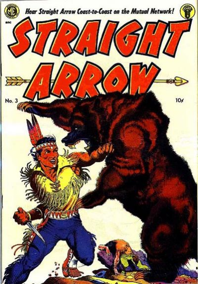Cover for Straight Arrow (Magazine Enterprises, 1950 series) #3