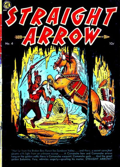 Cover for Straight Arrow (Magazine Enterprises, 1950 series) #4