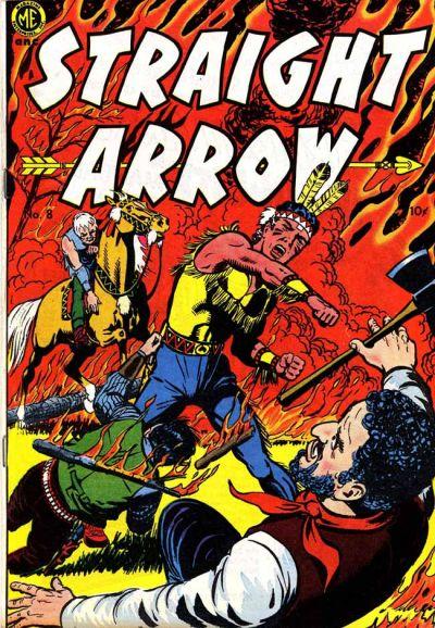 Cover for Straight Arrow (Magazine Enterprises, 1950 series) #8