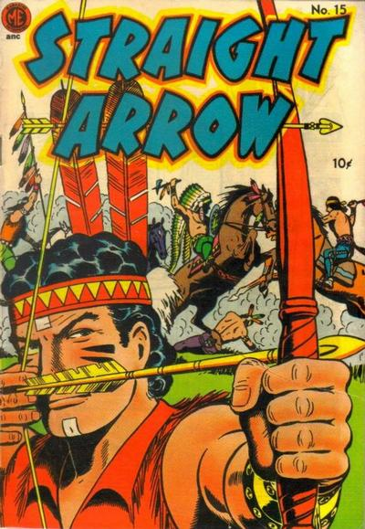 Cover for Straight Arrow (Magazine Enterprises, 1950 series) #15