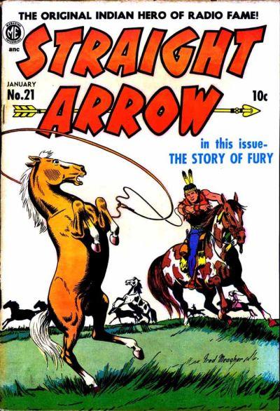 Cover for Straight Arrow (Magazine Enterprises, 1950 series) #21