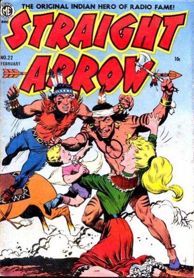 Cover for Straight Arrow (Magazine Enterprises, 1950 series) #22