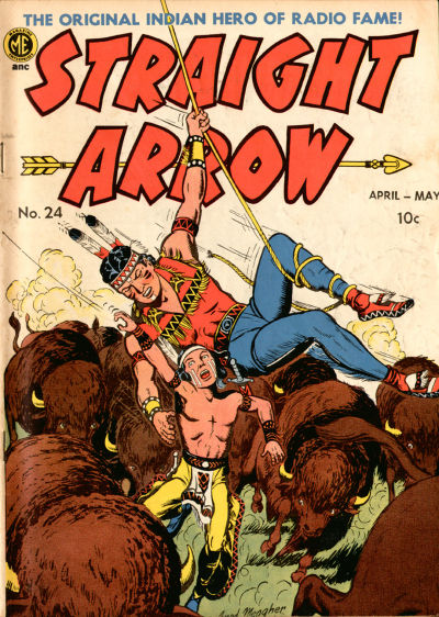 Cover for Straight Arrow (Magazine Enterprises, 1950 series) #24