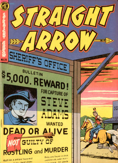 Cover for Straight Arrow (Magazine Enterprises, 1950 series) #26