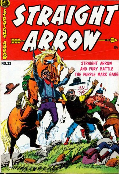 Cover for Straight Arrow (Magazine Enterprises, 1950 series) #33