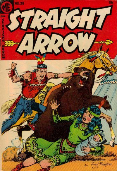 Cover for Straight Arrow (Magazine Enterprises, 1950 series) #38