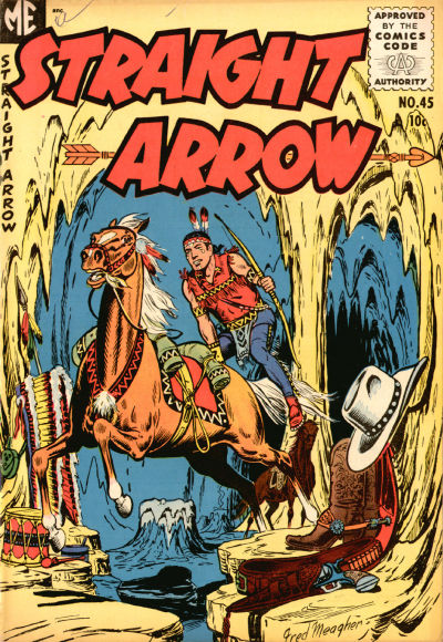 Cover for Straight Arrow (Magazine Enterprises, 1950 series) #45