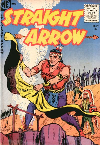 Cover for Straight Arrow (Magazine Enterprises, 1950 series) #49