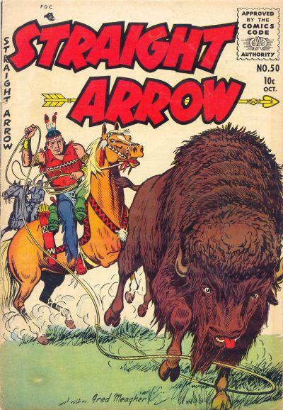 Cover for Straight Arrow (Magazine Enterprises, 1950 series) #50