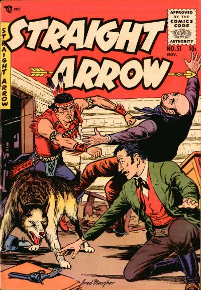 Cover for Straight Arrow (Magazine Enterprises, 1950 series) #51