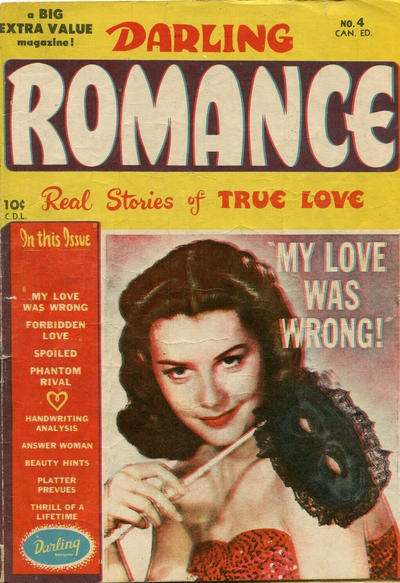 Cover for Darling Romance (Bell Features, 1950 series) #4