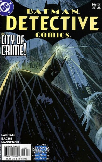 Cover for Detective Comics (DC, 1937 series) #806