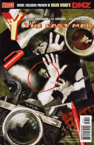 Cover for Y: The Last Man (DC, 2002 series) #37
