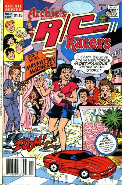 Cover for Archie's R/C Racers (Archie, 1989 series) #2