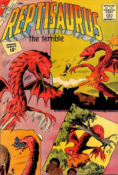 Cover for Reptisaurus (Charlton, 1962 series) #4