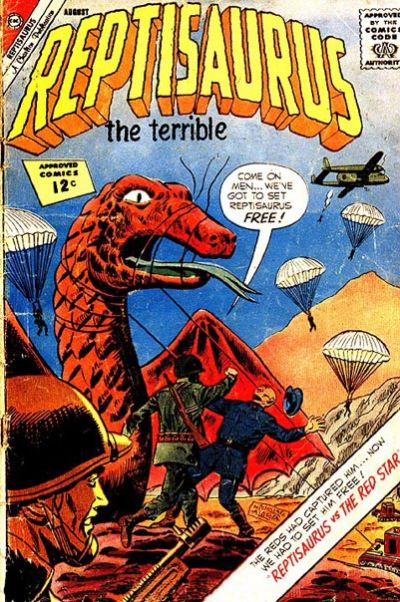 Cover for Reptisaurus (Charlton, 1962 series) #6