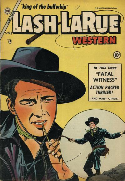 Cover for Lash Larue Western (Charlton, 1954 series) #48