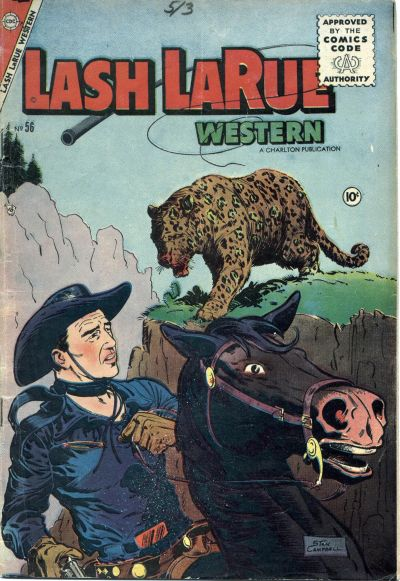Cover for Lash Larue Western (Charlton, 1954 series) #56